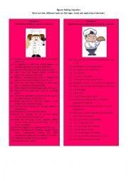 English Worksheet: Information Gap Task 7/8: jigsaw