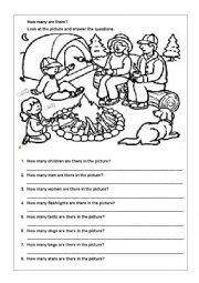 English Worksheet: How many are there