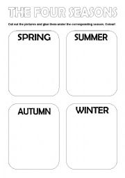 English Worksheet: The four seasons of the year