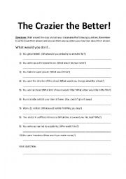 English Worksheet: Ice Breaker