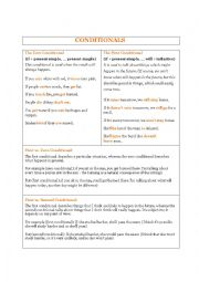 English Worksheet: Conditionals - for adults (no pictures)