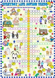 English Worksheet: Action verbs / crossword puzzle