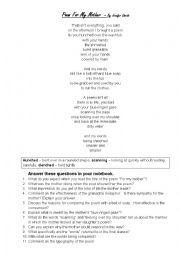English Worksheet: Poems and worksheets