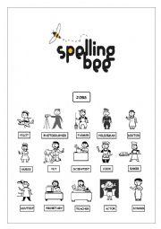 English Worksheet: spellin bee
