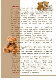 English Worksheet: Teddy bear