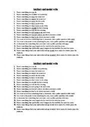 English Worksheet: Auxiliary and modal verbs