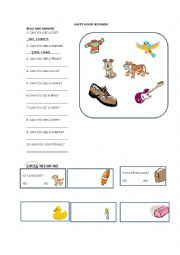 English Worksheet: Happy House 1