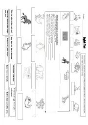 English Worksheet: DOMESTIC AND WILD ANIMALS TEST