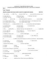 UNIVERSITY ENTRENCE EXAM PREPARATION TEST 2  FOR THE 12TH GRADERS