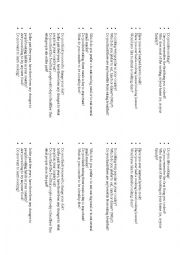 English Worksheet: IELTS part 1 questions for speaking