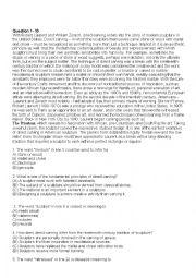English Worksheet: Toefl readings