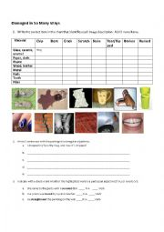 English Worksheet: Participial Adjectives Exercise