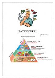 English Worksheet: EATING WELL