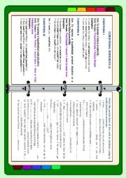 English Worksheet: Conditionals I, II, III structures with examples and mixed Conditionals exercise