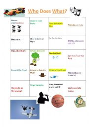 English Worksheet: Who Does What