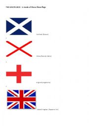 English Worksheet: The Union Jack flag