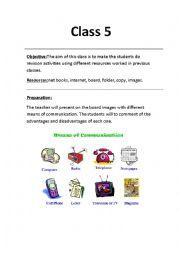 English Worksheet:  comunication