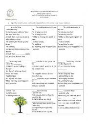 English Worksheet: Lemon tree listening exercise