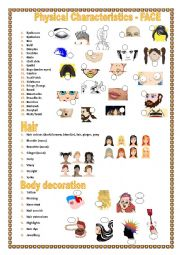 Physical characteristics & body decorations