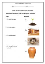 English Worksheet: USES OF SOIL