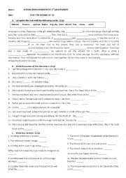 English Worksheet: THE WIZARD OF OZ TEST