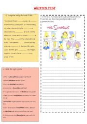 English Worksheet: First Term Test for Elementary Adults