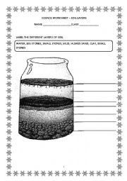 English Worksheet: soil layers