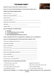 English worksheets: The Book Thief