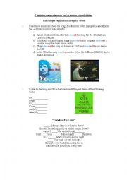 English Worksheet: Listening comprehension and vocabulary practice Goodbye my lover by James Blunt
