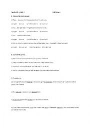 English Worksheet: Perfect modals