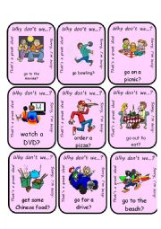 English Worksheet: Why Don�t We...?  Go Fish