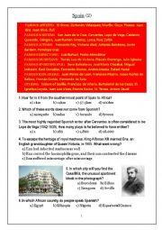 English Worksheet: Spain Quiz 2