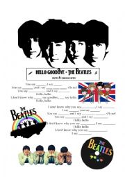 Hello Goodbye Beatles Worksheet