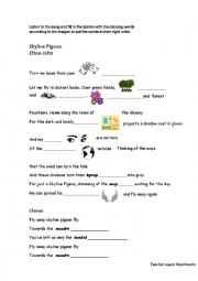 English Worksheet: Song Activity: Elton John-Skyline Pigeon