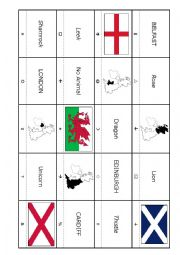 English Worksheet: British Iles - Code Cracker Grid
