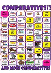 English Worksheets: COMPARATIVE BOARD GAME