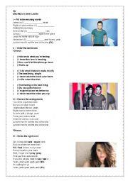 English Worksheet: Olly Murs ft Demi Lovato - Up