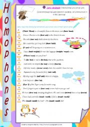 English Worksheet: Homphones