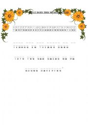 English Worksheet: A Cryptogram