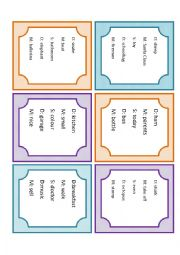 English Worksheet: Charades with drawing and speaking. Board game with cards for teams or individuals