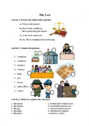 English Worksheet: Law