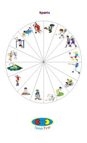 English Worksheet: Sports Spinner