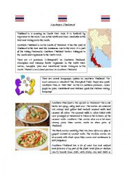 English Worksheet: Southern Thailand Reading Comprehension