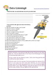 English Worksheet: Minions- the trailer