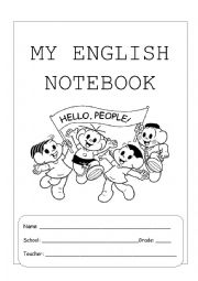 English Worksheet: Notebook Cover