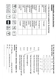 English worksheet: Understanding and Giving Directions