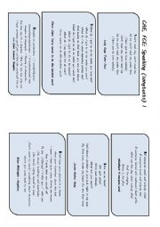 English Worksheet: CAE and FCE �SPEAKING� Preparation (songtext based) I  (Prompts or �cheats� included)