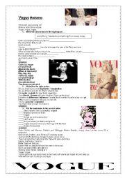 English Worksheet: Vogue Madonna