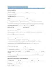 English Worksheet: How to make a first aid kit