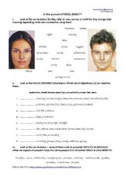 English Worksheet: Beauty-C1